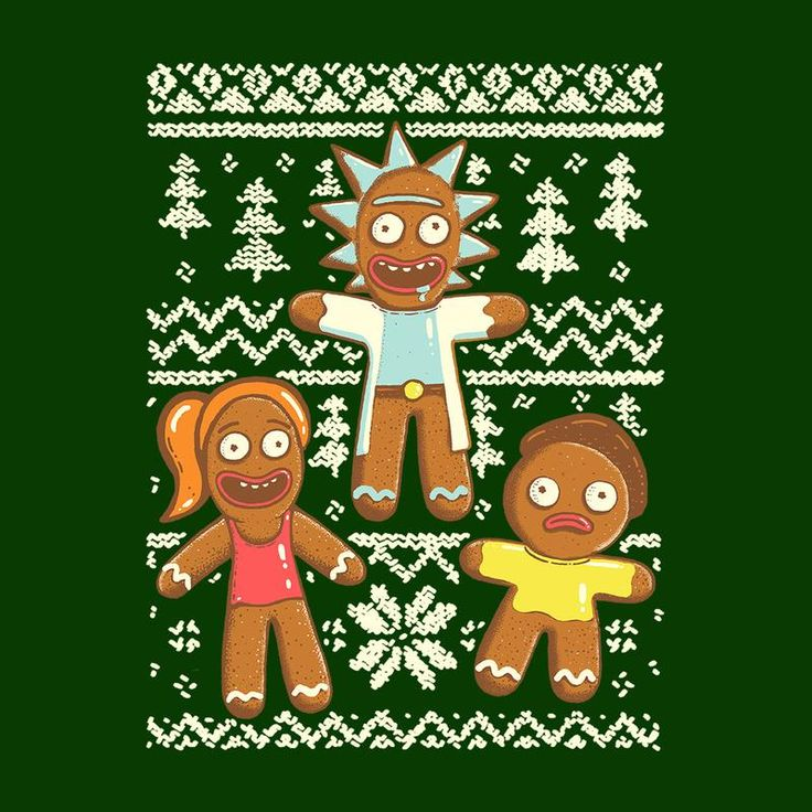 Gingerick Men Christmas Jumper Rick And Morty Men's T-Shirt