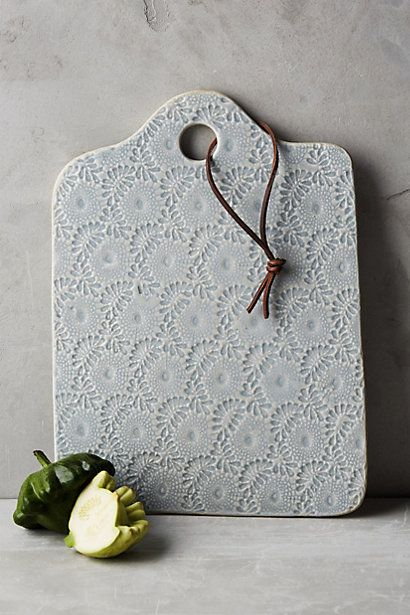 Ceramic Lacework Cheese Board #anthropologie                                                                                                                                                                                 More
