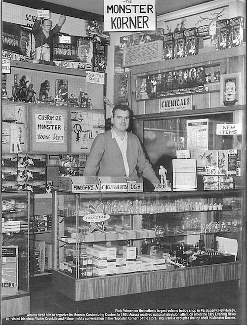 Coop alerted my to this amazing photo of The Monster Korner in a New Jersey hobby shop from 1964. Every square inch is a treat to the eyeballs.