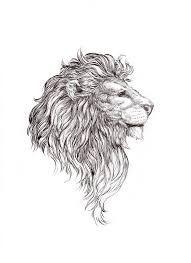 Resultado de imagen para small line lion tattoo