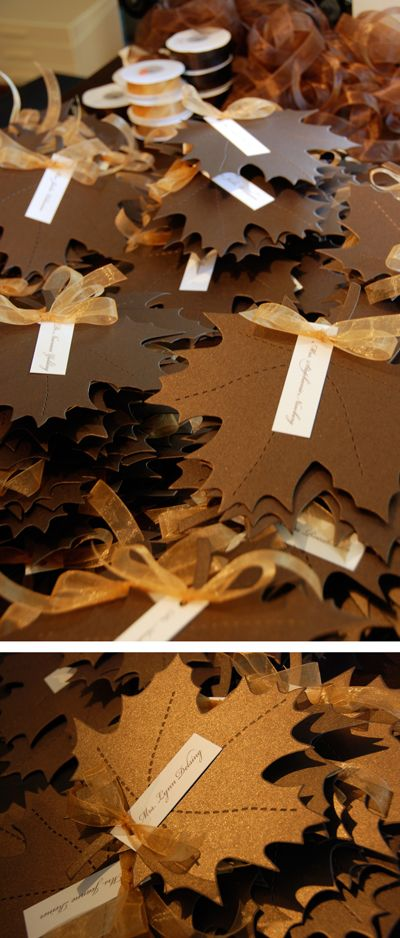 autumn place cards