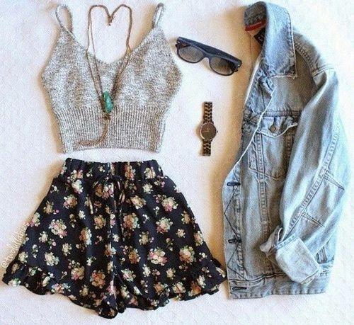 Outfit, roupas, moda feminina.