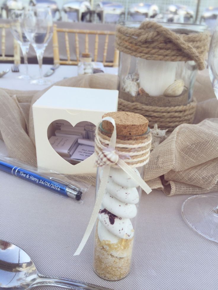 Μπομπονιέρα γάμου Γυάλινο βαζάκι με κουφέτα βότσαλα..