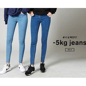 Gmarket - CHUU Denim pants / skinny jeans / washed / elastic /