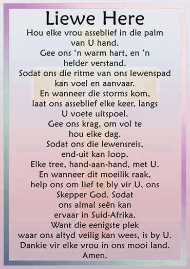 Ek is vrou...dankie Heer https://www.facebook.com/Jesus-Christ-Our-King-Saviour-Jesus-Christus-Ons-Koning-Verlosser-607534209395899/