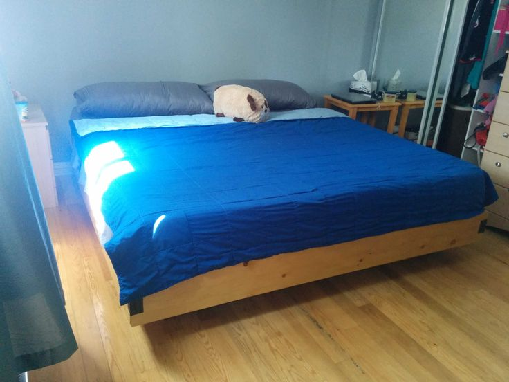 i too made a super cheap platform bed total cost under 140 cad - Cheap Platform Bed Frame
