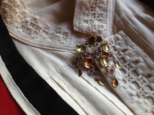 Lovely Hardanger detail on this shirt.     Julie K. Rose: The World of Oleanna: Bunad: the folk dress of Norway