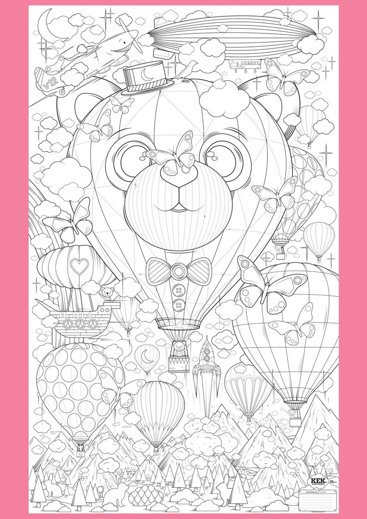 Supersized Colouring Picture: Up and Away