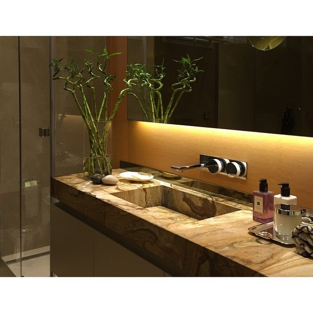 HG Residence Etiler , Istanbul Turkey. Bathroom with custom-made marble sink by Gsc Design | Interiors | Atelier
