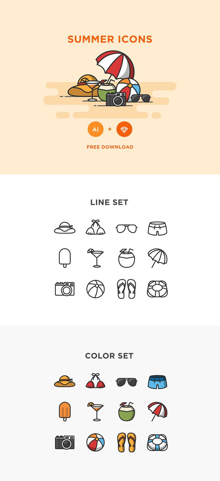 Free Summer Icons The 162 best Vectors