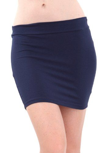 Ladies Basic Navy Blue Solid Color Mini Skirt   Special Offer: $4.75      444 Reviews Navy Blue This skirt features a solid basic color, a banded waistline, and a stretchy fit