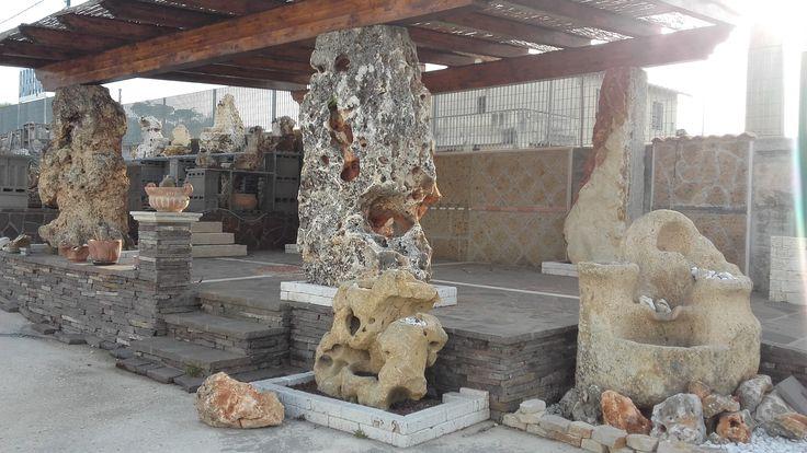 Colonne in pietra per gazebi