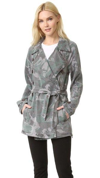 Pam & Gela Camo Trench Coat