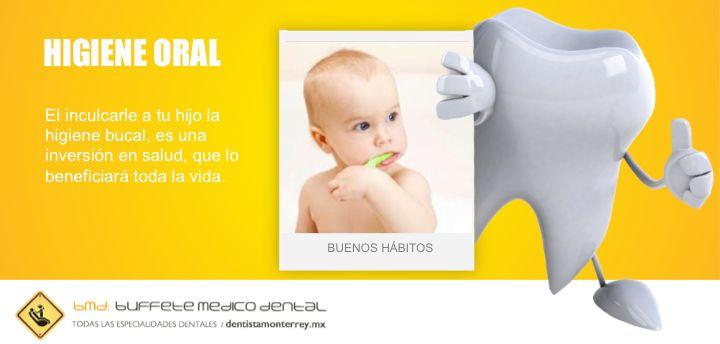 Inculcarle la #higienebucal a tu hijo es una inversión en salud, para toda la vida.