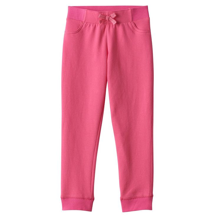 Toddler Girl Jumping Beans® Solid Jogger Pants, Size: 2T, Med Pink