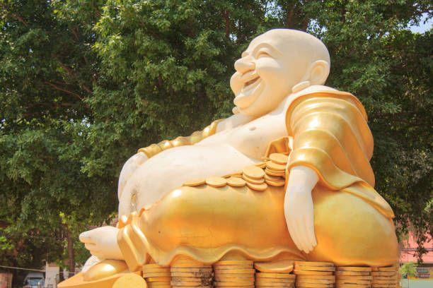 giant buddha statue wat kok mai daeng phitsanulok province thailand