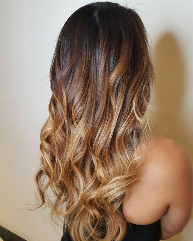 dark light brown ombre hair