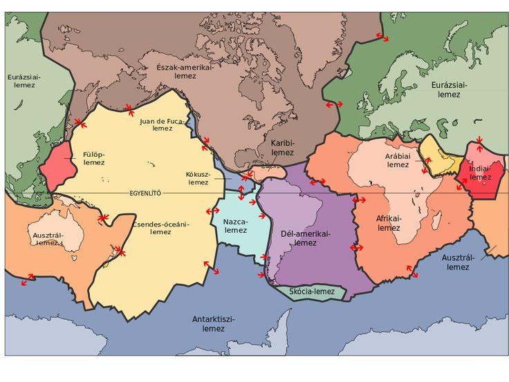 Tektonikus lemez - Lemeztektonika – Wikipédia