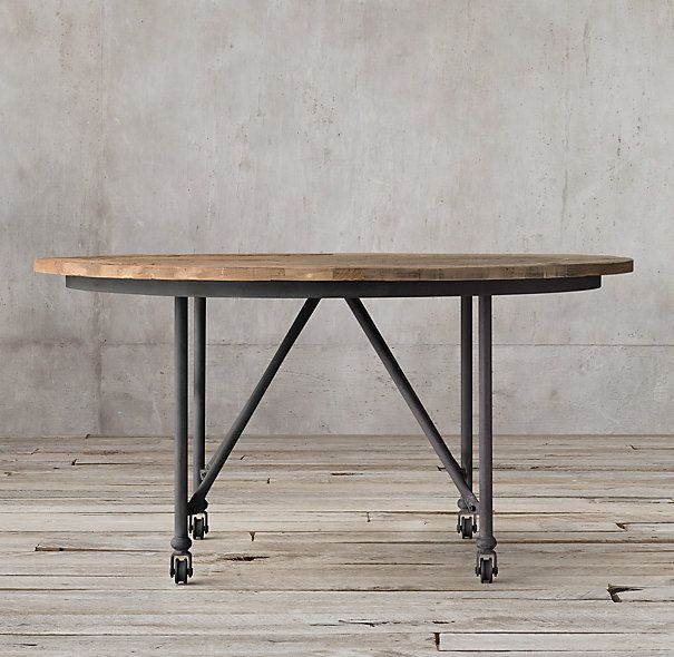 Flatiron Round Dining Table / Restoration Hardware / Office Client Table