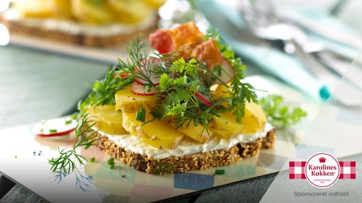 Grov kartoffelmad med ost og krydderurter