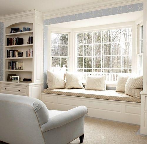 Love this little reading nook #livingroom