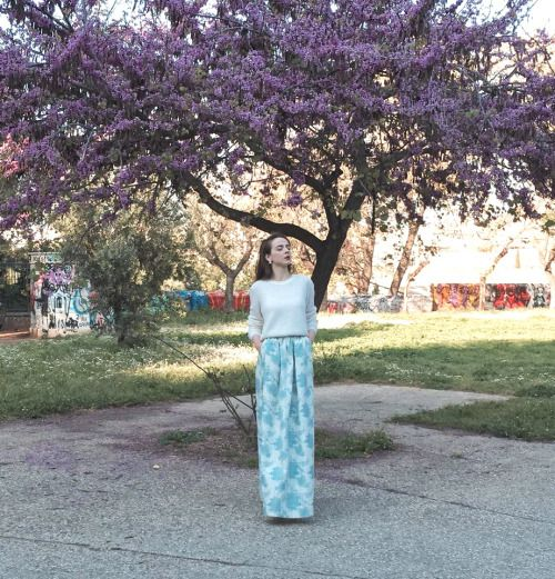 floral maxi skirt.