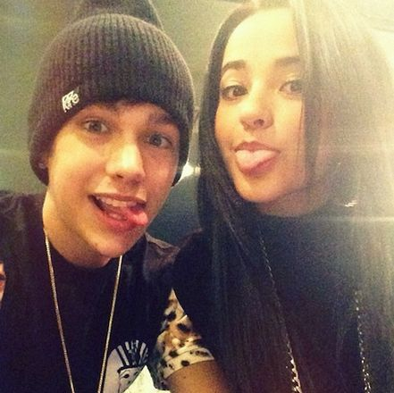 How long have beckyb g and austin mahone been dating