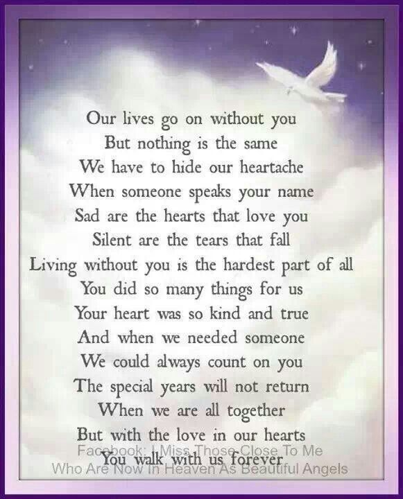 Missing you nathan everyday ..not coping good son without you love mum