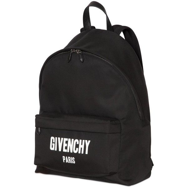 Givenchy Men Nylon & Cotton Cordura Backpack (86.260 RUB) ❤ liked on Polyvore featuring men's fashion, men's bags, men's backpacks and mens backpack