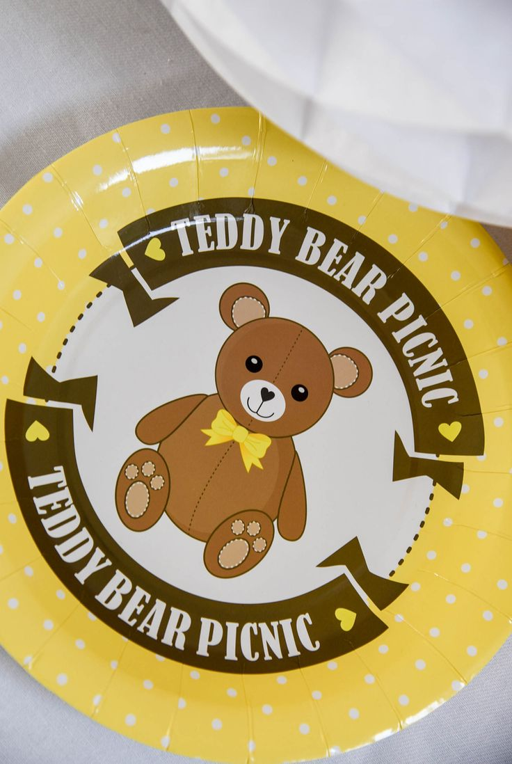 Teddy Bear Picnic paper plate by Hunters Rose