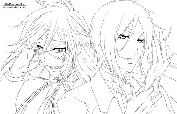 black butler coloring pages black butler anime to color black - Black Butler Chibi Coloring Pages