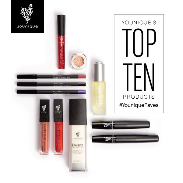 All the Top 10 best-selling Younique products - can you guess which one is #1? | Contact your Younique Presenter or visit www.youniqueproducts.com to buy.