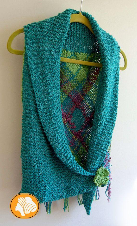 Bolero algodón turquesa con broche de flor