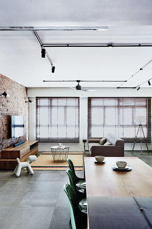 Ways and ideas for loft-style design, as shown in trendy HDB flat home designs.