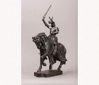 Matthias Schiff, Statue équestre de René II, bronze, 1882