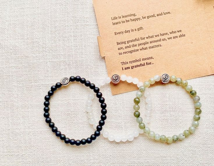 Gratitude Bracelet, Gratitude reminders, Meaningful Gift Ideas, Men Bracelet, Mala bead Bracelet