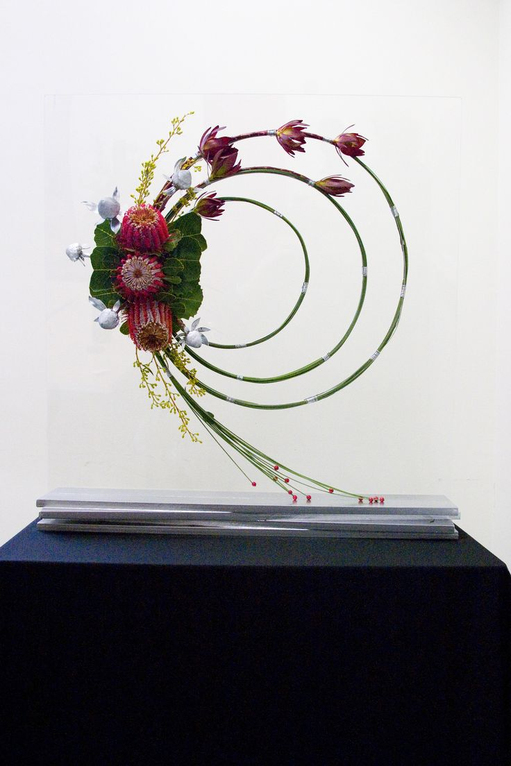 94..................................  Contemporary floral arrangement #floristry #wildflowers #tafe