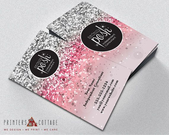 Perfectly Posh Business Card  Perfectly Posh by APrintersCottage