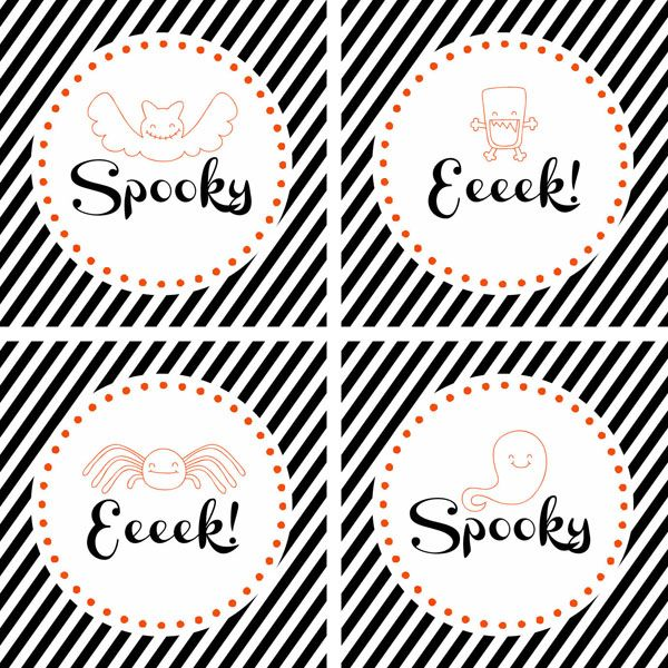 Spookiest Things Party Printables at Sweet Rose Studio perfect for your Halloween parties!