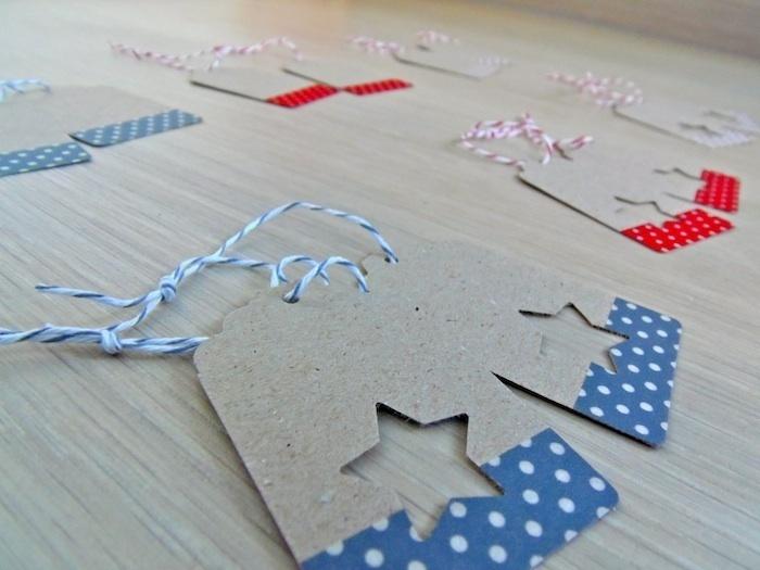 Etiquetas de regalo hechas a mano en cartulina kraft reciclada, decoradas con estrella troquelada*.     Incluyen cordón de Baker's Twine.    Pack de 1