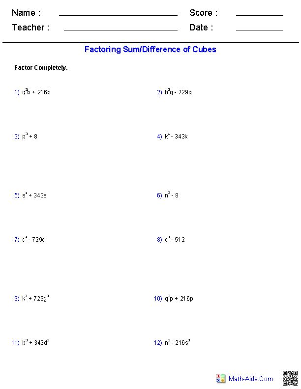 Factoring Perfect Trinomial Square Worksheet Factoring Perfect