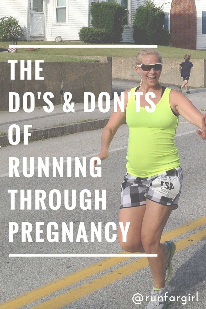 The do's and don'ts of running through pregnancy.