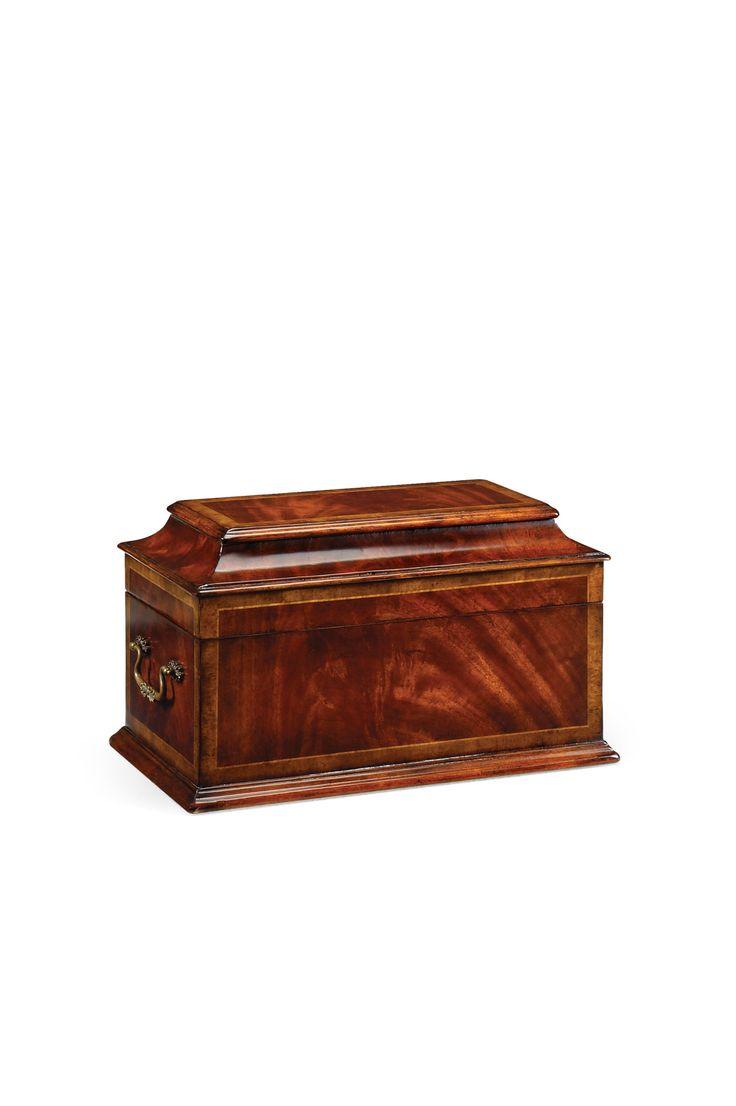 Crotch Mahogany Coffer Box 493002