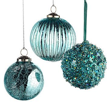 Z Gallerie - Mercury Glass Ornaments - Turquoise $8-$9