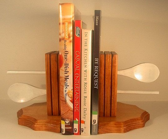 Wooden Spoon Bookends