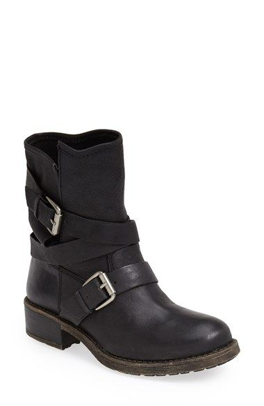 Free shipping and returns on Lucky Brand 'Dallis' Moto Boot (Women) at Nordstrom.com. A wraparound buckled strap amps up the moto-chic attitude of a casually rugged boot crafted from slightly distressed leather.