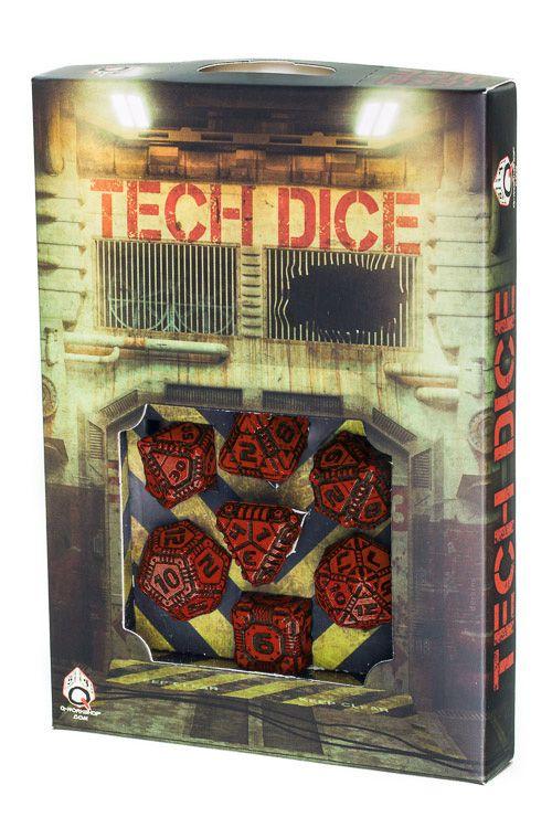Red&black Tech Dice Set