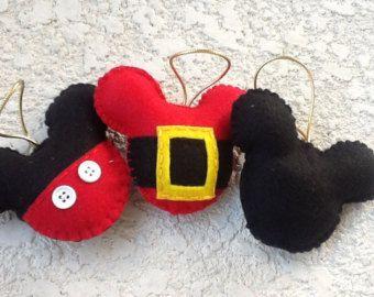 Juego de Mickey mouse adorno fieltro de 4 por BellisimaSofia