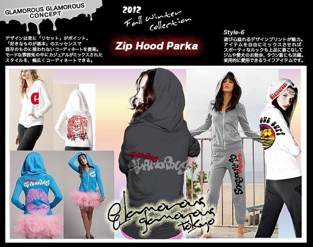 【Zip Hood Parka】  遊び心あふれるデザインが魅力。  アイテムを自由にミックスさせればスポーティなルックも  上品に着こなしてジムや愛犬のお散歩、タウン着にも活躍。