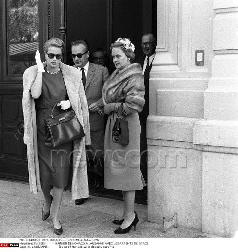 Princess Grace in Lausanne, Switzerland, with her husband, Prince ...